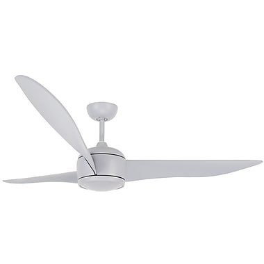 Lucci Air 56'' Nordic 3 Blade Fan w/ Remote; Gray
