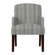 Red Barrel Studio Larose Zigzag Arm Chair; Gray
