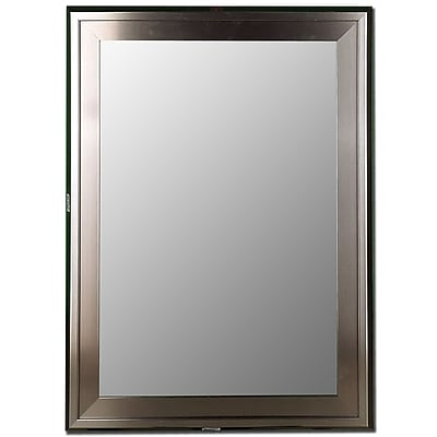 Red Barrel Studio Slant Liner Stainless Framed Accent Wall Mirror; 46'' H x 36'' W x 0.75'' D WYF078281084239