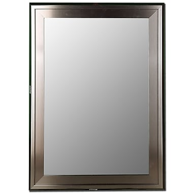 Red Barrel Studio Slant Liner Stainless Framed Accent Wall Mirror; 42'' H x 30'' W x 0.75'' D