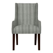 Red Barrel Studio Larrabee Lattice Upholstered Arm Chair; Gray