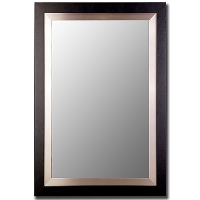 Orren Ellis Hand-crafted Bevelled Accent Wall Mirror; 46'' H x 36'' W x 0.75'' D WYF078281084097