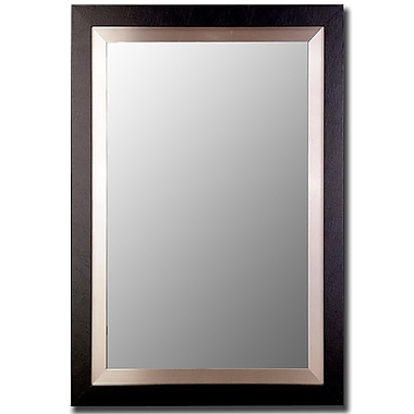 Orren Ellis Hand-crafted Bevelled Accent Wall Mirror; 37'' H x 27'' W x 0.75'' D