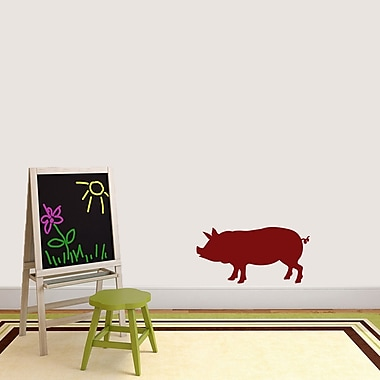 SweetumsWallDecals Pig Silhouette Wall Decal; Cranberry