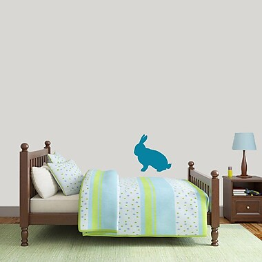 SweetumsWallDecals Rabbit Silhouette Wall Decal; Teal