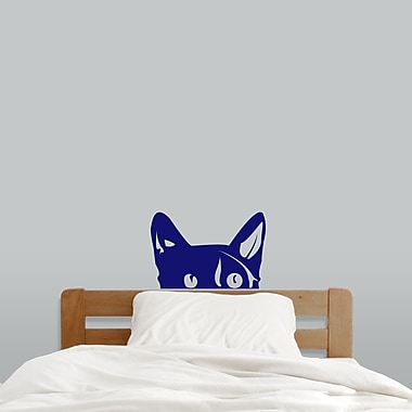 SweetumsWallDecals Peeping Cat Wall Decal; Navy