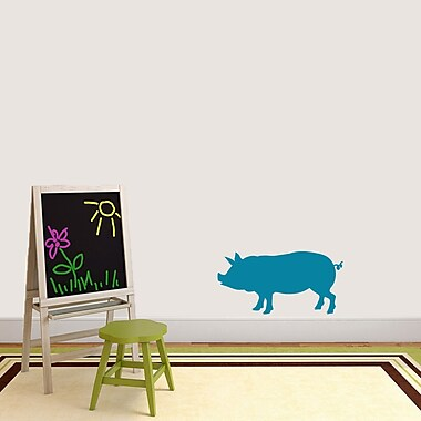 SweetumsWallDecals Pig Silhouette Wall Decal; Teal
