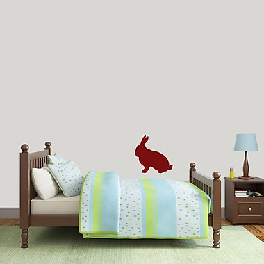 SweetumsWallDecals Rabbit Silhouette Wall Decal; Cranberry