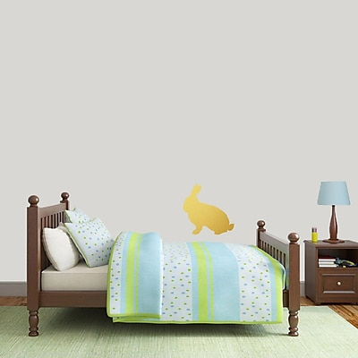 SweetumsWallDecals Rabbit Silhouette Wall Decal; Gold
