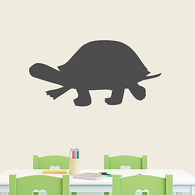 SweetumsWallDecals Turtle Silhouette Wall Decal; Dark Gray