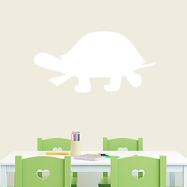 SweetumsWallDecals Turtle Silhouette Wall Decal; White