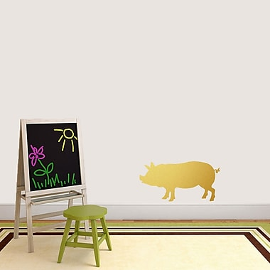 SweetumsWallDecals Pig Silhouette Wall Decal; Gold