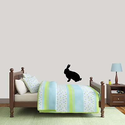 SweetumsWallDecals Rabbit Silhouette Wall Decal; Black
