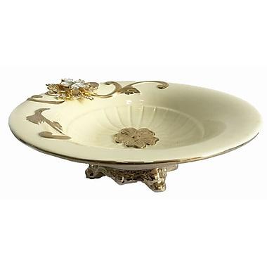 Astoria Grand Round Footed Ceramic Decorative Bowl