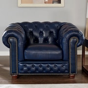 17 Stories Corbett Leather Club Chair
