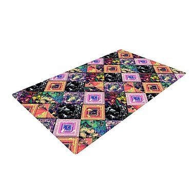 East Urban Home Danny Ivan Never Run Away Geometric Pink/Black Area Rug; 4' x 6'