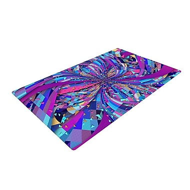 East Urban Home Danny Ivan Flavours Explosion Purple/Blue Area Rug; 2' x 3'