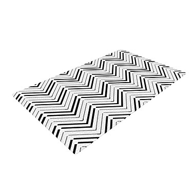 East Urban Home CarolLynn Tice Distinct Black/White Area Rug; 2' x 3'