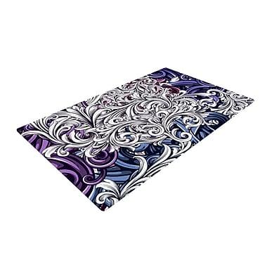 East Urban Home Nick Atkinson Celtic Floral I Abstract Purple Area Rug; 2' x 3'