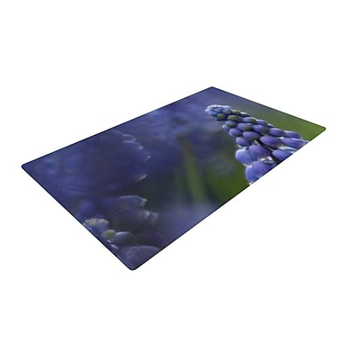 East Urban Home Angie Turner Grape Hyacinth Green/Purple Area Rug; 2' x 3'