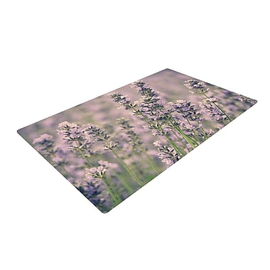 East Urban Home Robin Dickinson Smell the Flowers Lavender/Green Area Rug; 2' x 3'