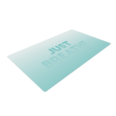 East Urban Home Just Breathe Blue/Green Area Rug