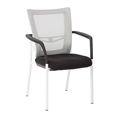 ProGrid Mesh Back Padded Visitor Chair, White
