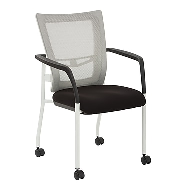 ProGrid Mesh Back Padded Visitor Chair w/ Casters