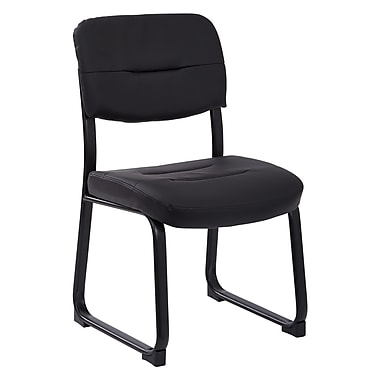Worksmart Sled Base Visitors Chair, Black