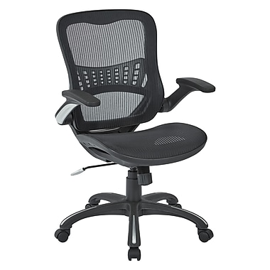 Worksmart Mesh Seat & Back Managers Chair, Black