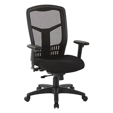 ProGrid Mesh High Back Chair w/ Seat Slider, Black