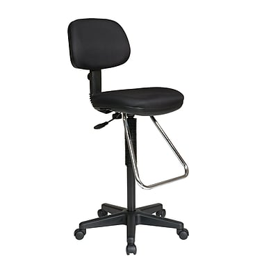 Worksmart Molded Foam Drafting Chair, Black