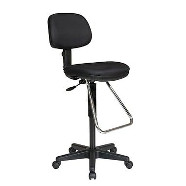 Worksmart – Chaise pour dessinateur en mousse moulée, noir