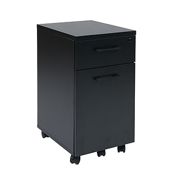Proline Prado Mobile File Pedestal, Black
