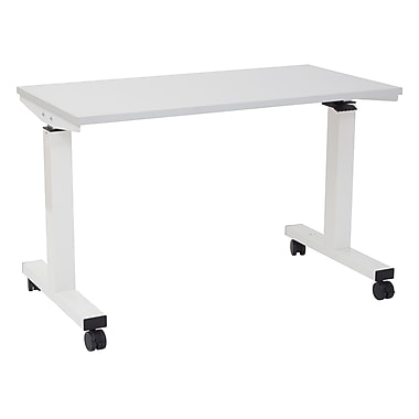 Proline 4' Pneumatic Height Adjustable Table, White