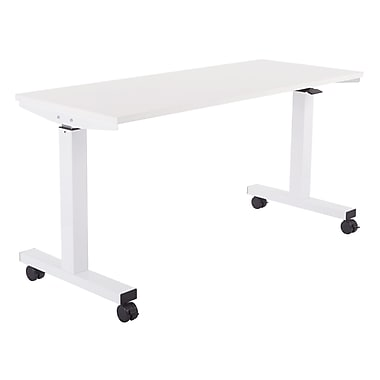 Proline 5' Pneumatic Height Adjustable Table, White