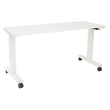 Proline 6' Pneumatic Height Adjustable Table, White