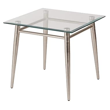 Avenue Six – Table d'extrémité carrée Brooklyn en verre