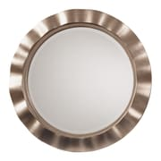 OSP Designs Cosmos Beveled Wall Mirror, Brushed Silver