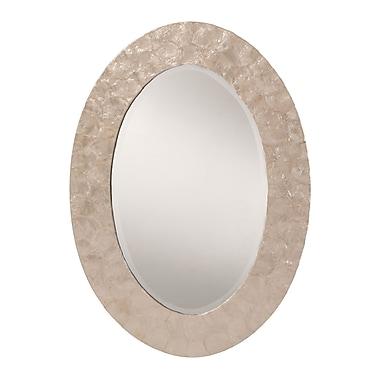 OSP Designs – Miroir mural biseauté Rio, nacre blanche