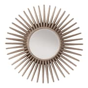 OSP Designs Ella Beveled Wall Mirror, Pewter Sunbeam