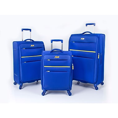 Rosetti Sunshine 17 3 Piece Luggage Set, Blue (RS9103)