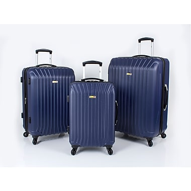 Via Rail Canada Jasper 3 Piece Luggage Set, Navy (V1103)