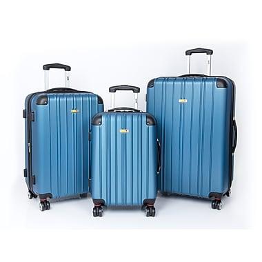Via Rail Canada Maritime 3 Piece Luggage Set, Blue (V3203)