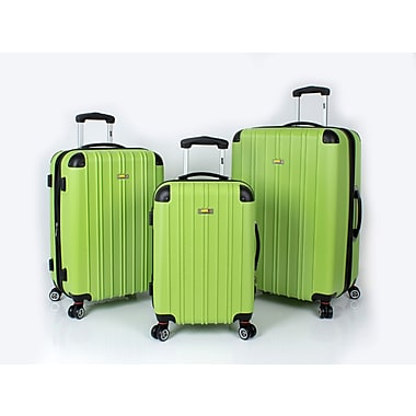 Via Rail Canada Maritime 3 Piece Luggage Set, Green (V3203)
