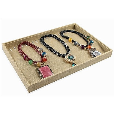 Zakka Burlap Display Tray For Necklace Bracelet Chain