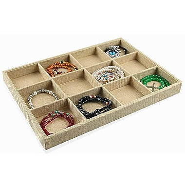 Zakka Burlap 12-Compartment Jewelry Display Tray