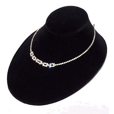 Zakka – Présentoir à colliers en velours noir d'une hauteur de 3 po