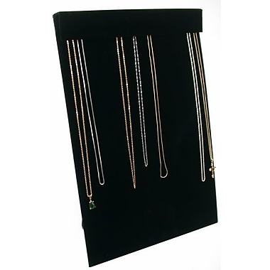 Zakka Multi Chain Necklace Easel Display Black Velvet