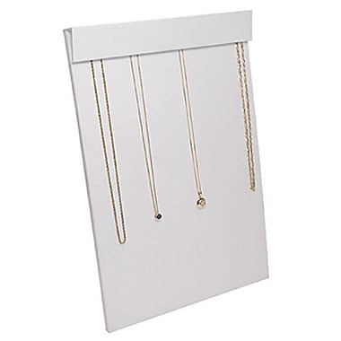 Zakka Multi Chain Necklace Easel Display White Leather